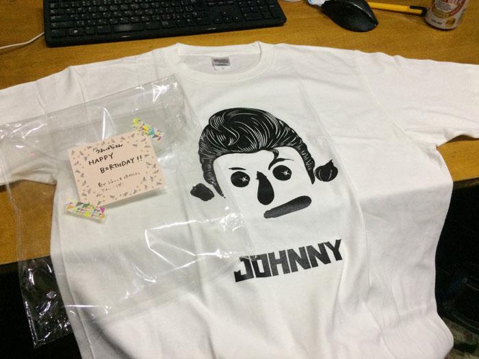 ジョニーさんのTシャツ